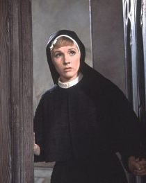 the sound-of-music-maria-nun-julie-andrews entering mother superior's ofc b4 going back