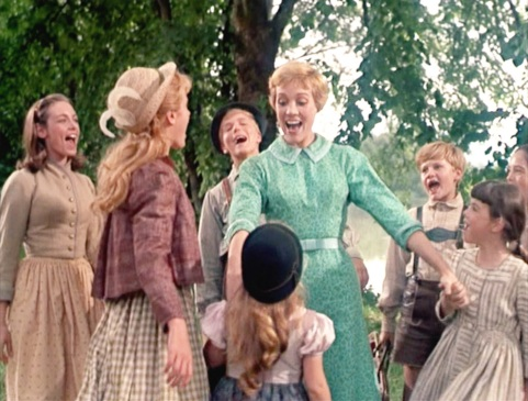 the SoundOfMusic coming back from abby meets children outsid