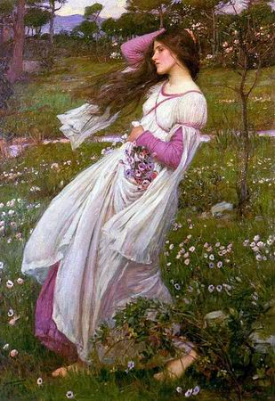 windflowers painting  artist john william waterhouse