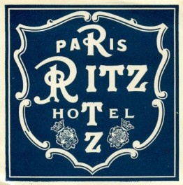 ritz paris hotel plaque smaller