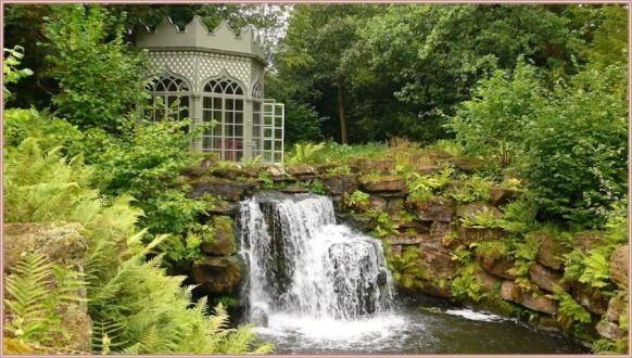 garden waterfall private gazebo overgrown 4pmip&p