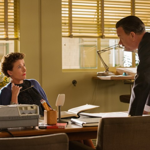 saving mr banks p.l at desk walt talking to her