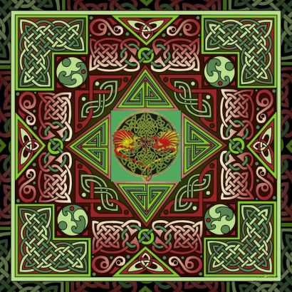 10 labyrinth celtic dragon  mini 1