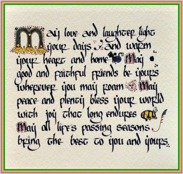 4 irish blessing may love & laughter light your days