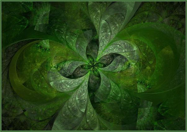 6 abstract four leaf clover by a j s