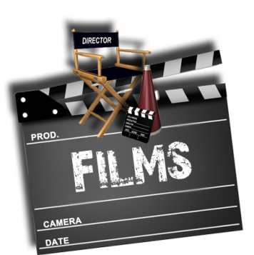 Films clapboard director chair