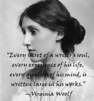 virginia woolf a writer's life quote over photo
