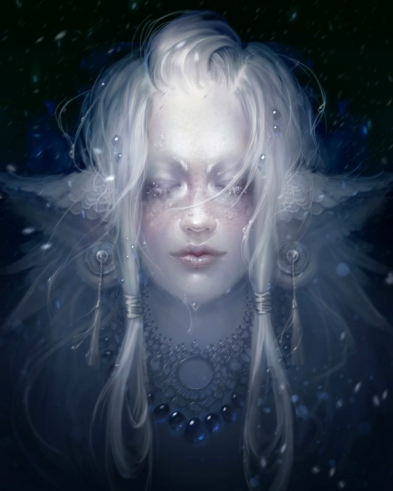 crying faerie silver sparkles
