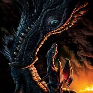 huge & little dragon together sm
