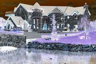 negative of le chateau de rocher by j. kiley (c) jennifer kiley 2013