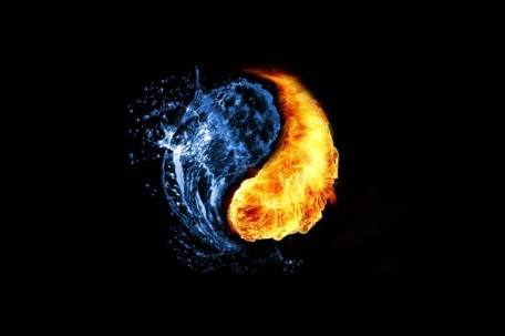 flames-fire & water-yin-yang-ying-yang-black-background-duality