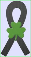 black_shamrock_ribbon green reverse