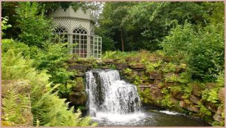 garden waterfall private gazebo overgrown 4pmip&p