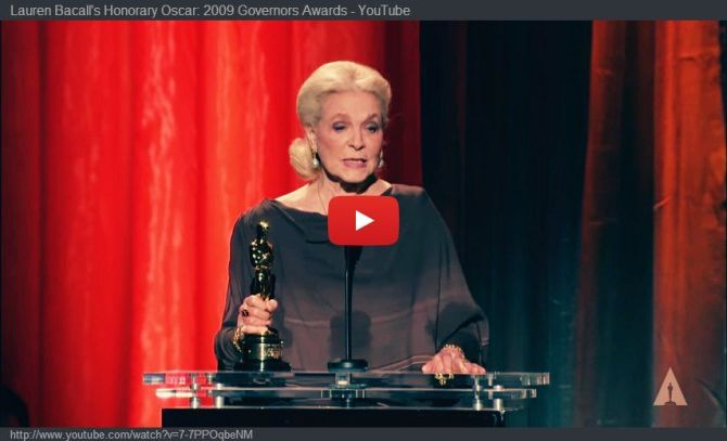 lauren bacall honorary oscar