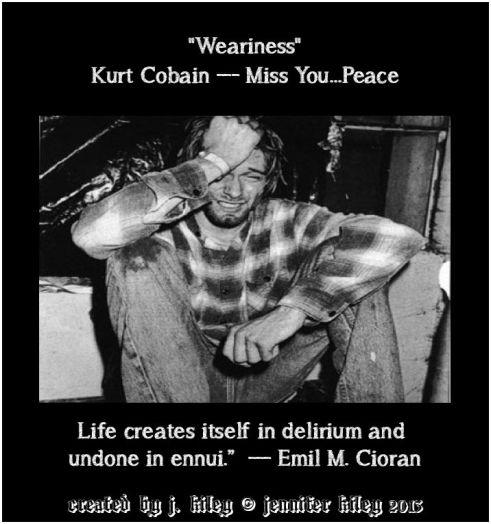 kurt cobain wearines delirium ennui poster