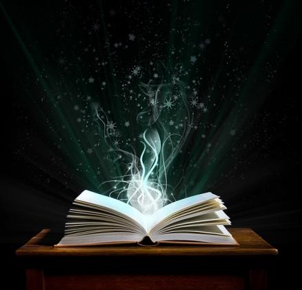 book open rising white energy storytelling