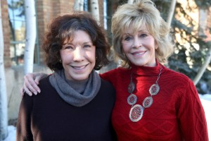 JANUARY 26:  Actresses Lily Tomlin (L) and Jane Fonda attend the Woman at Sundance Brunch during the 2015 Sundance Film Festival on January 26, 2015 in Park City, Utah.  (Photo by Mat Hayward/Getty Images for Sundance)