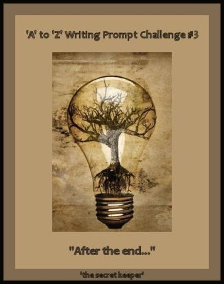 'a' to 'z' writing prompt poster #3 template
