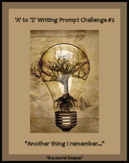 'a' to 'z' writing prompt poster