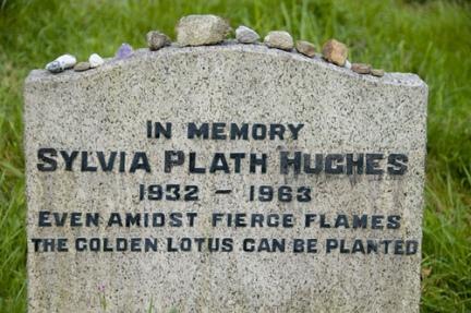 sylvia plath's grave site