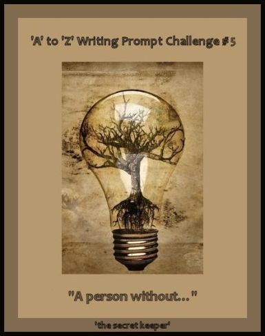 'a' to 'z' writing prompt poster #5