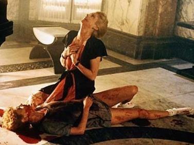 #58 hunger susan on floor bleeding bit by vampire catherine