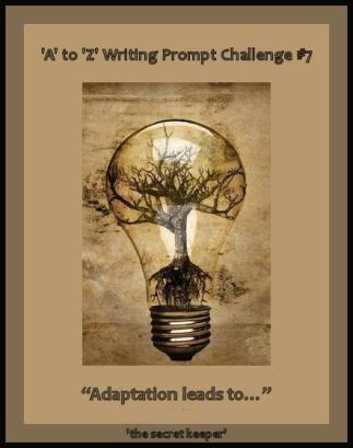 'a' to 'z' writing prompt poster #7