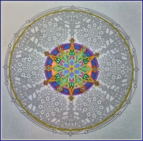 Snowflake Mandala from Coloring Book - A-Work-In-Progress by Jennifer Kiley