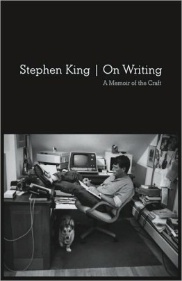 stephen king book cover on writing
