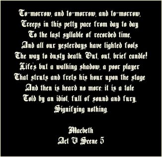 life upon the stage macbeth