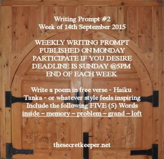 weekly writing prompt #2