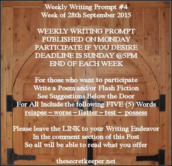weekly writing prompt #4