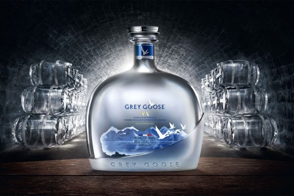 #67 greygoose in a cellar with glass casks