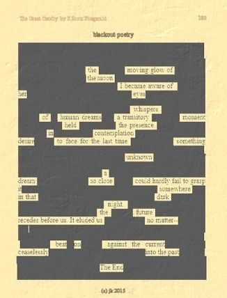 The Moving Glow POEM on Old Page of The Great Gatsby