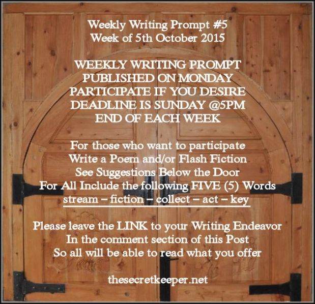 weekly writing prompt #5
