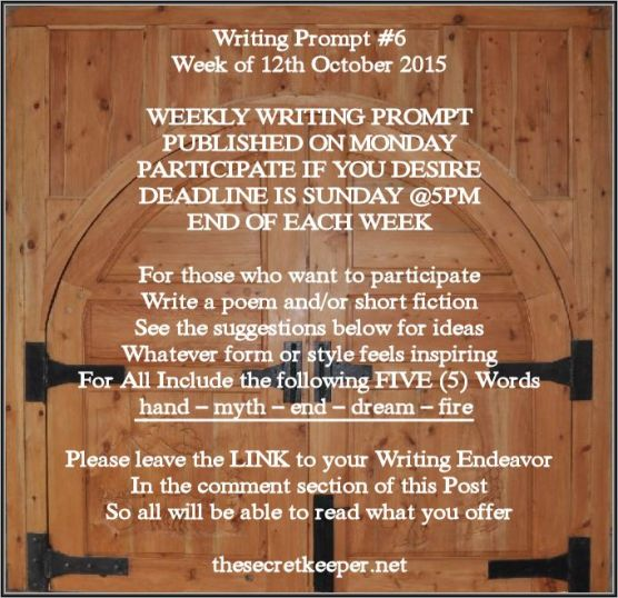 weekly writing prompt #6