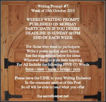weekly writing prompt #7