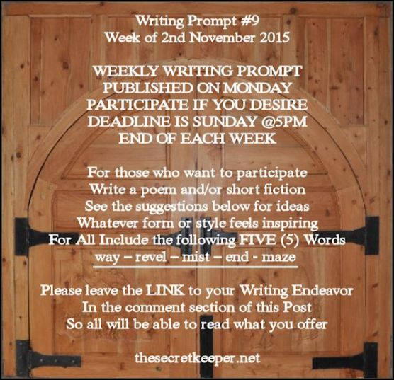 weekly writing prompt #9