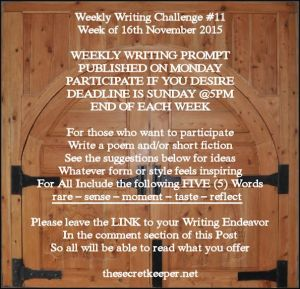 weekly writing prompt #11