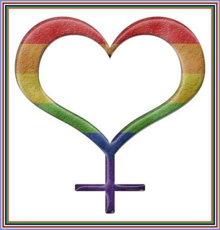 women's symbol heart shaped rainbow #2