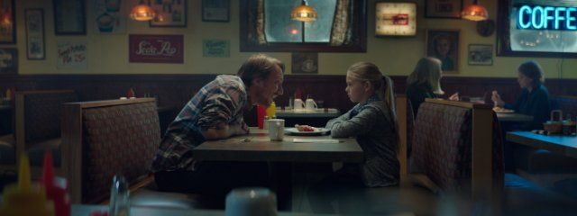 the talk scene at restaurant table