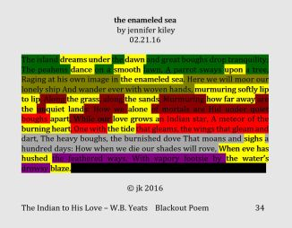 the enameled sea - blackout poem 2.21.16 (c) jk 2016