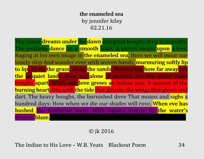 the enameled sea - blackout poem 2.21.16 (c) jk 2016