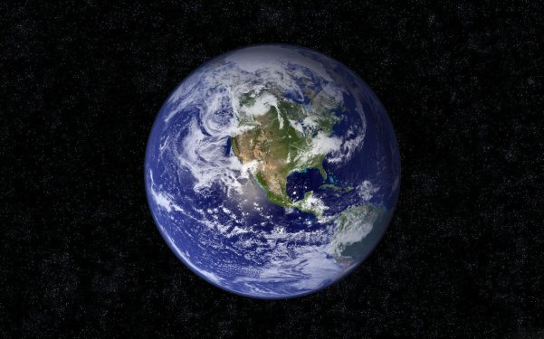 EARTH black background