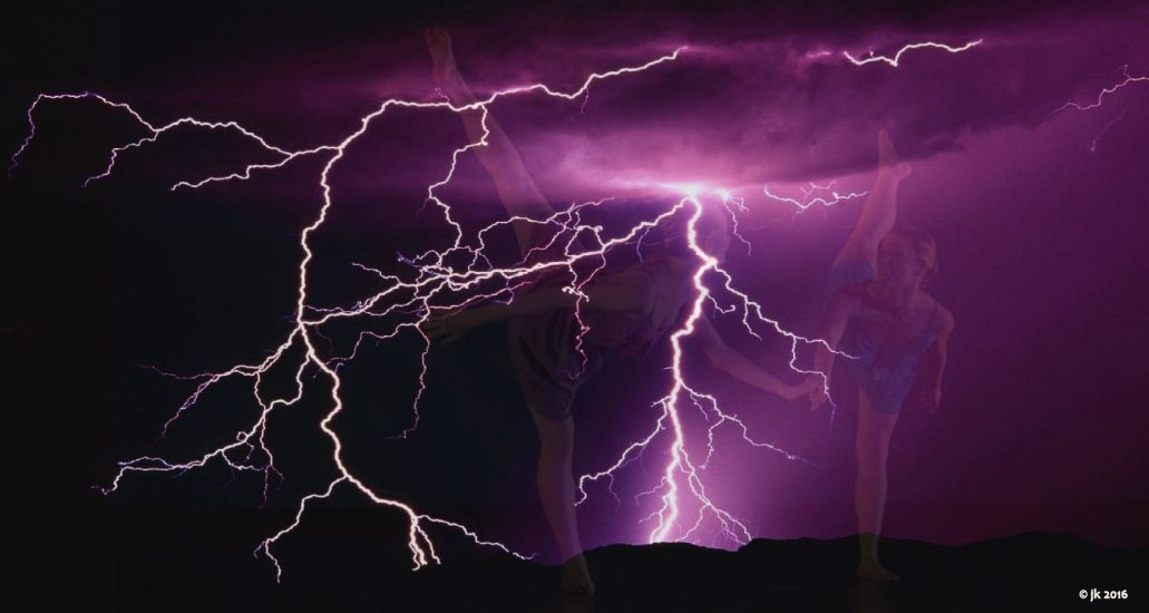 purple lightning ballet dancers faded