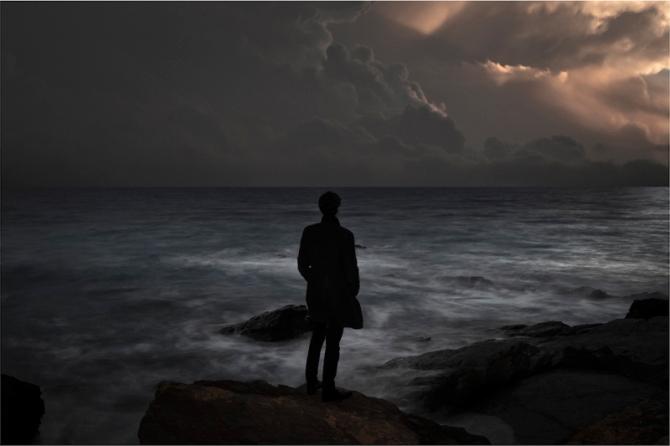 hailey-lane-the-wanderer at the sea at night