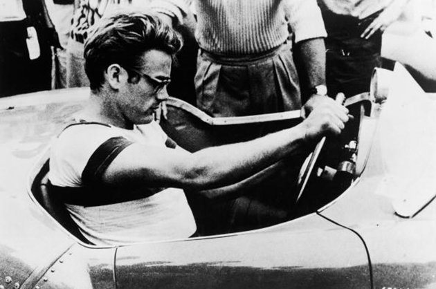 james dean in Porsche Spyder