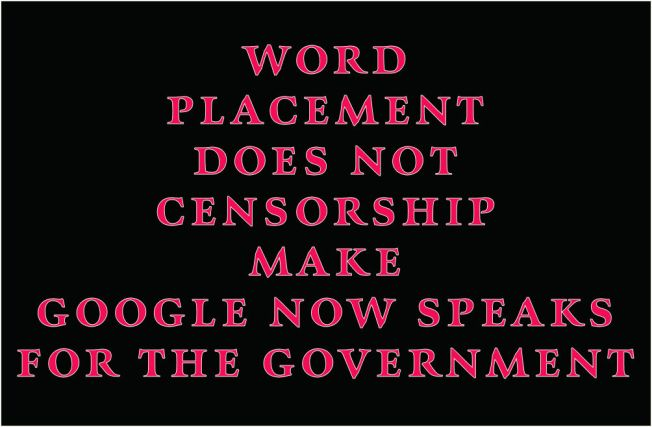 word placement does not censorship make