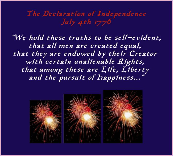 the declaration of independence we hold these...