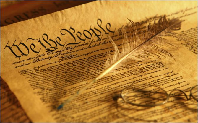 we the people glasses & feather quill